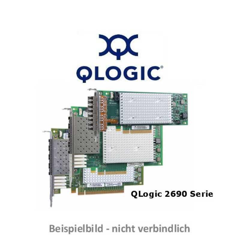 Qlogic - QLE2694U-SR-CK - 16Gb Quad Port FC HBA, PCIe Gen3 x16, LC  multi-mode optic - Gen 6 ready