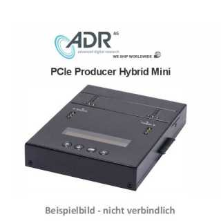 ADR PCIe Producer Hybrid Mini  - Standalone PCIe-Duplicator with 1 masterslots and 1 targets, separate SATA & PCIE Sockets, 9GB/Min