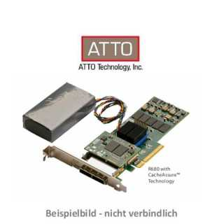 ATTO - RAID Adapter - Express SAS - ExpressSAS RAID CACHE  PCIe 2.0 6Gb SAS/SATA 8Port Int Low Profile