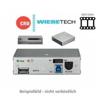 CRU - Wechselrahmen - Digital Cinema - Move Dock 3S - Carrier Adapter - SATA / USB 3.0 & eSATA - Stromkabel - EU power - auch für DX115DC