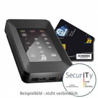 Digittrade - SSD - HS256 S 500GB SSD - Smartcard-  + PIN-Authentifizierung - 2 Smartcards, USB-Y-Kabel, Hardcase - 500GB - ULD