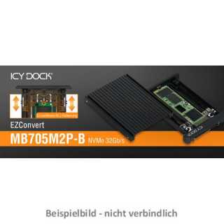 ICY DOCK - EZConvert - MB705M2P-B - M.2 NVMe to 2.5 U.2 NVMe SSD Converter toolless black