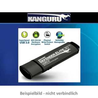 Kanguru - 032 GB - Defender Elite30 - USB 3.0 Hardware Encrypted Secure USB 3.0 Flash Drive with Physical Write Protect Switch