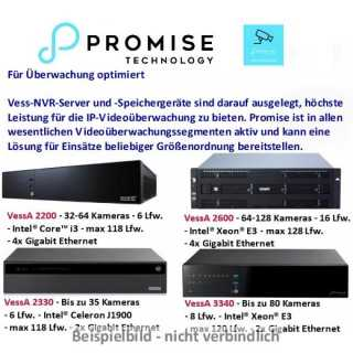 Promise - VA3340d @i3-7101E - Win10, 2U8, dual PSU - 32TB (4*8) 3.5 SATA HDD, 2U/8-bay, Win10 installed