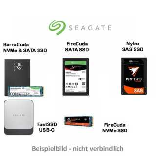 Seagate - Fast SSD 500GB - USB3.0 Type-C / 540MB/s / 500MB/s / black