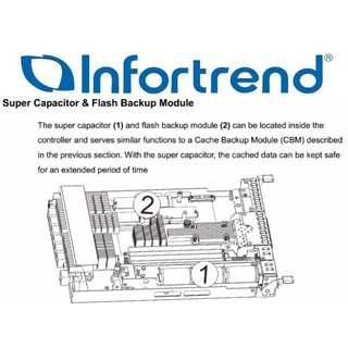 Infortrend - Replacement super capacitor module, for selected models.